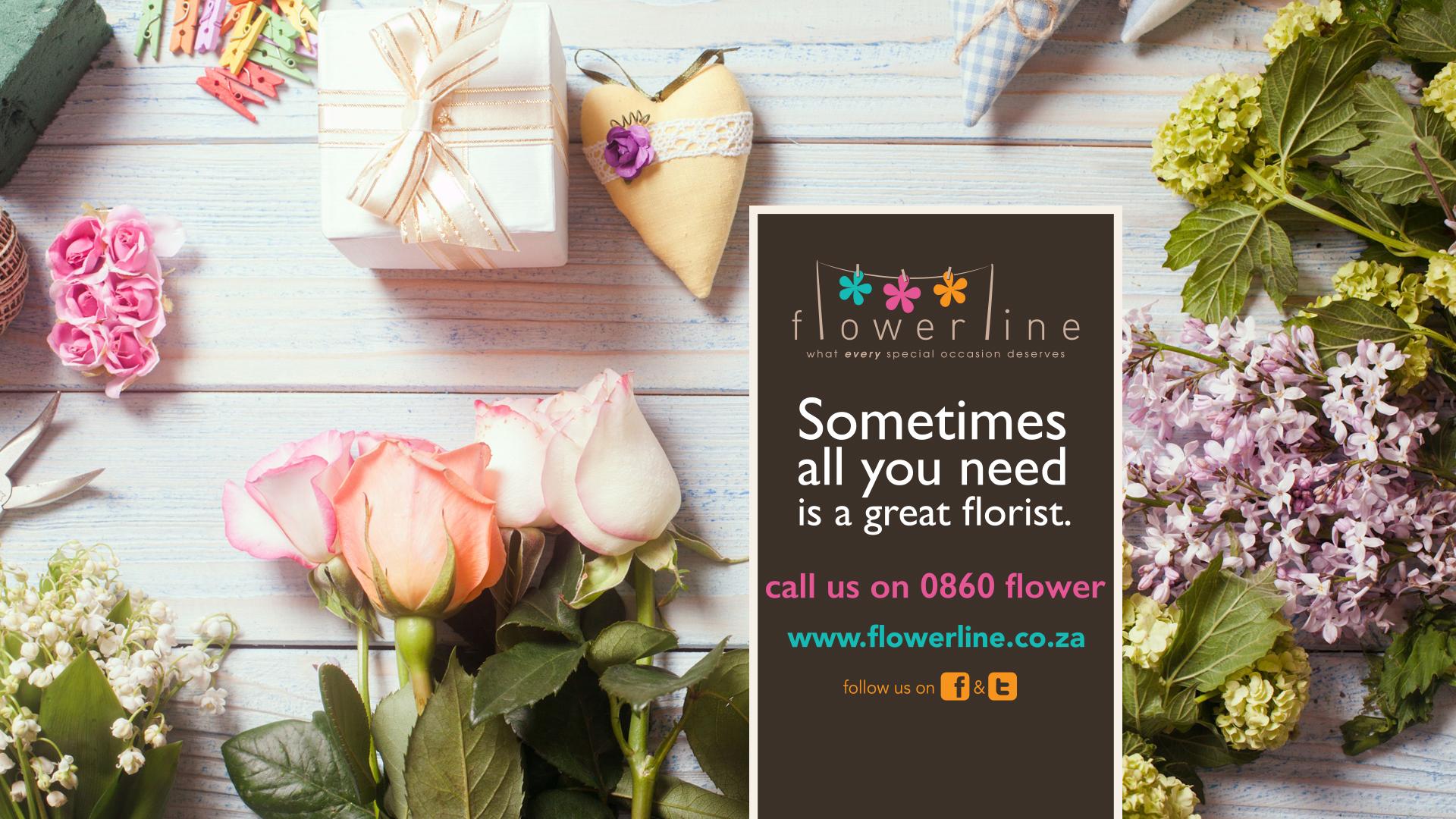 Flowerline printed advert