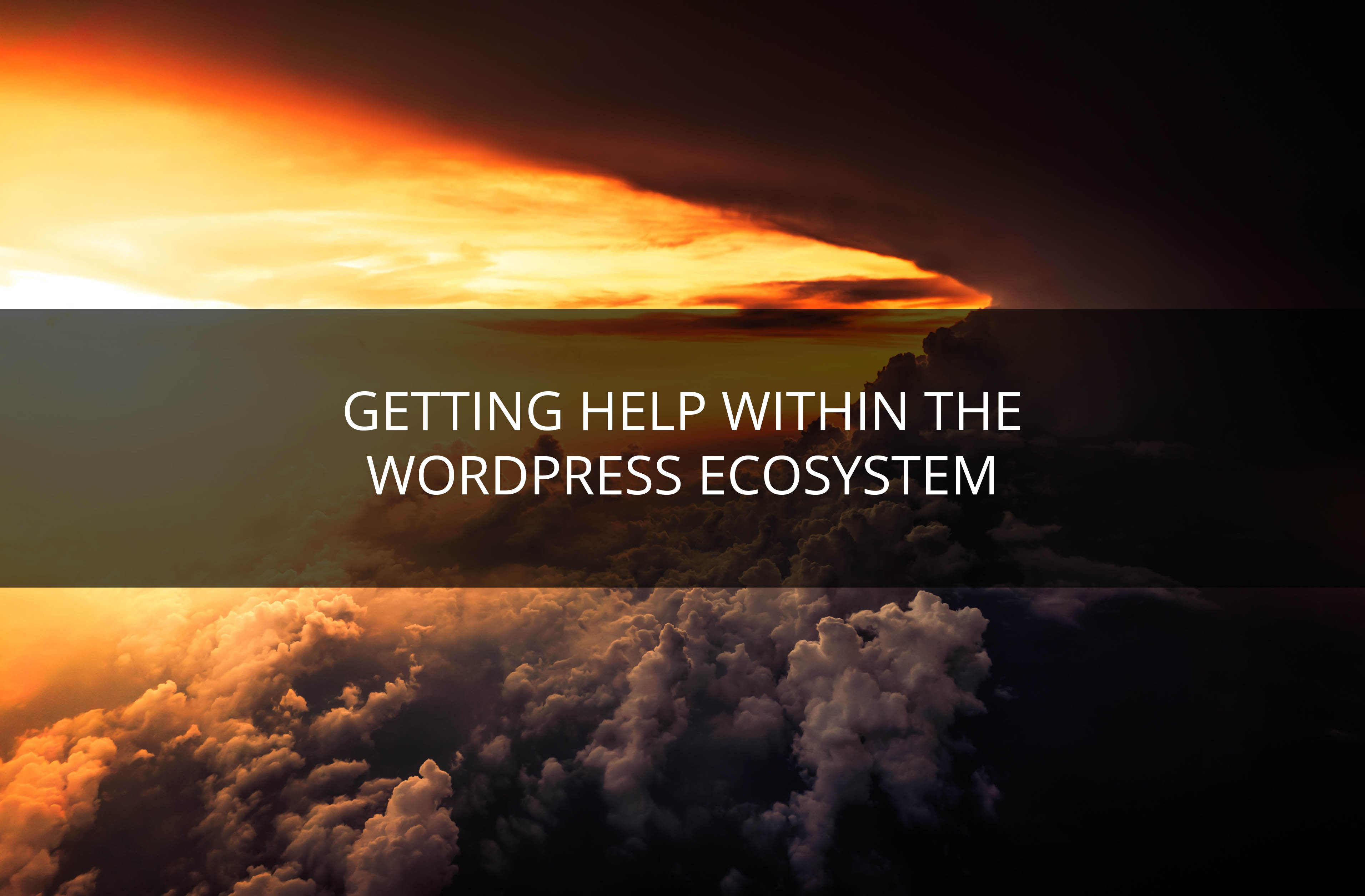 getting help with WordPress